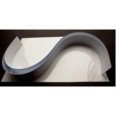 Chocolate Form Strips 1200mm x 80mm x 0.6mm cut strips white gloss upvc   (UPVC1200x80)